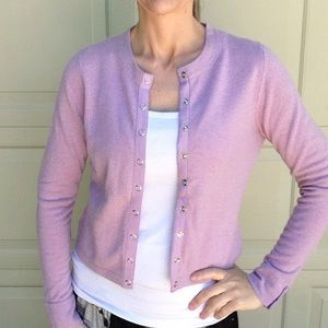 anthro ONE GIRL WHO snap front cashmere cardigan S